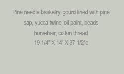 Pine Needle Gourd Basket