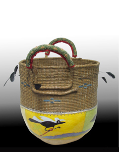 Pine Needle Gourd Baskets