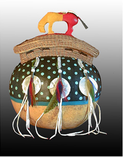 Pine Needle and Gourd Basketry